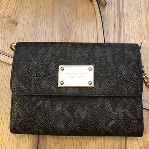 Michael Kors MK Logo Leather small crossbody purse